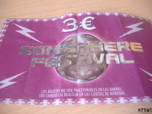 Sonisphere - Ticket (davant) (2)